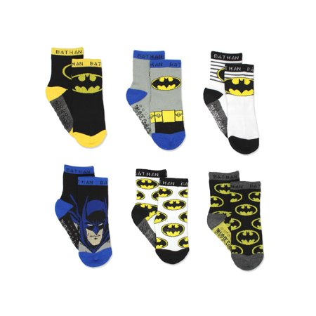 Batman Tights (Batman Justice League Boy's 6 pack Socks with Grippers (Baby/Toddler))