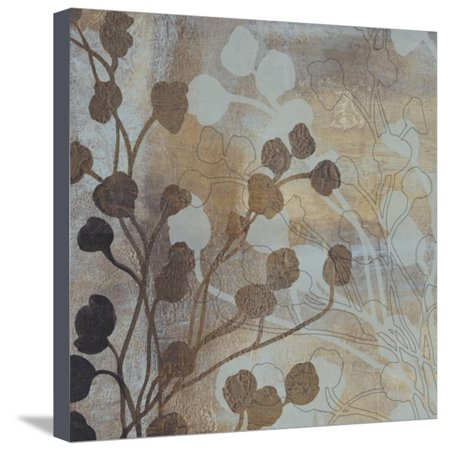Spa Blue and Gold I Stretched Canvas Print Wall Art By Tim O