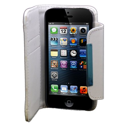 best service 50c81 b19f1 iPhone 5S Case, iPhone SE Case, by Insten Leather Wallet Credit Card Flip  Protective Case Cover For Apple iPhone 5 / 5S - White | Walmart Canada