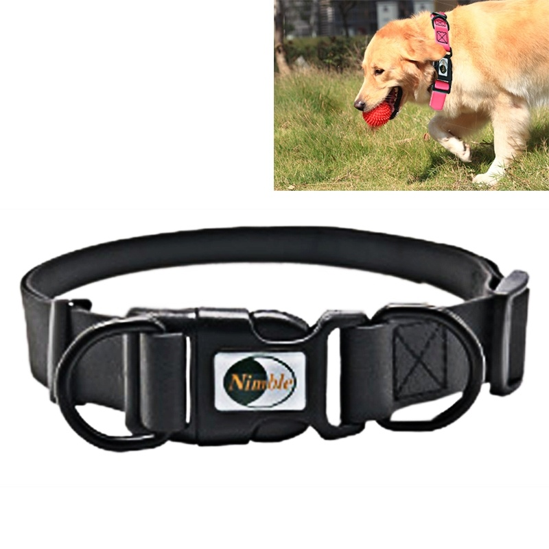 Dog Collar PVC Material Waterproof Adjustable Dual Loop Pet Dogs Collar, Suitable for Ferocious Dogs, Size: XS, Collar Size: 20-32 cm (Black)