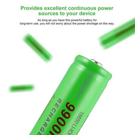 3.7V 18650 9900mAh Capacity Rechargeable Li-ion Battery Charger for Flashlight - image 5 de 8