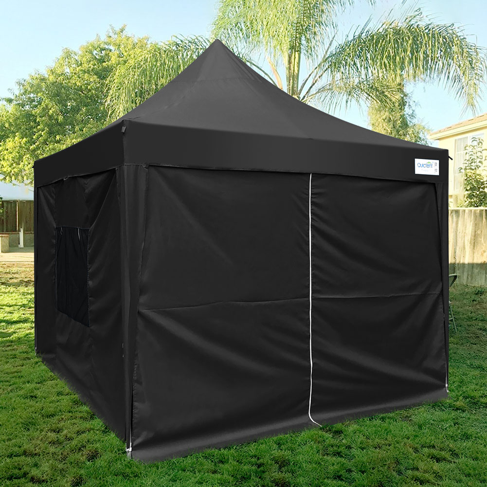 Upgraded Quictent 8x8 Ez Pop Up Canopy Tent Instant Folding Party Tent with Sides and Wheeled Bag Waterproof 9.2ft Height Black - Walmart.com & Upgraded Quictent 8x8 Ez Pop Up Canopy Tent Instant Folding Party ...