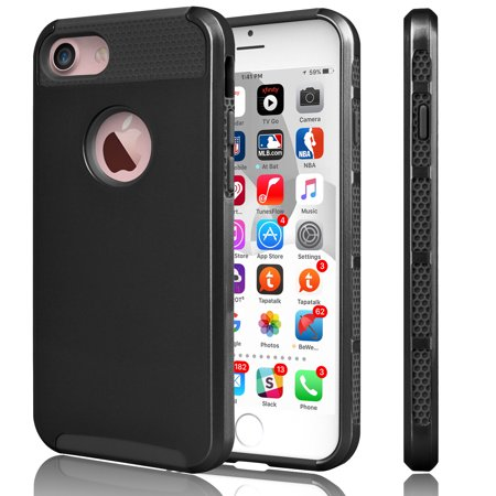 iPhone 7 Case, Tekcoo™ [TDuke Series] iPhone 7 (4.7 INCH) Protective Case Shock Absorbing Hard Hybrid Defender Glossy Cover [Scratch Proof] Plastic Shell + TPU Rubber Inner
