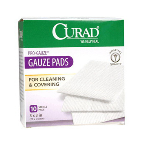 Curad Pro Gauze Pads, 3 X 3 Inches - 10 Ea
