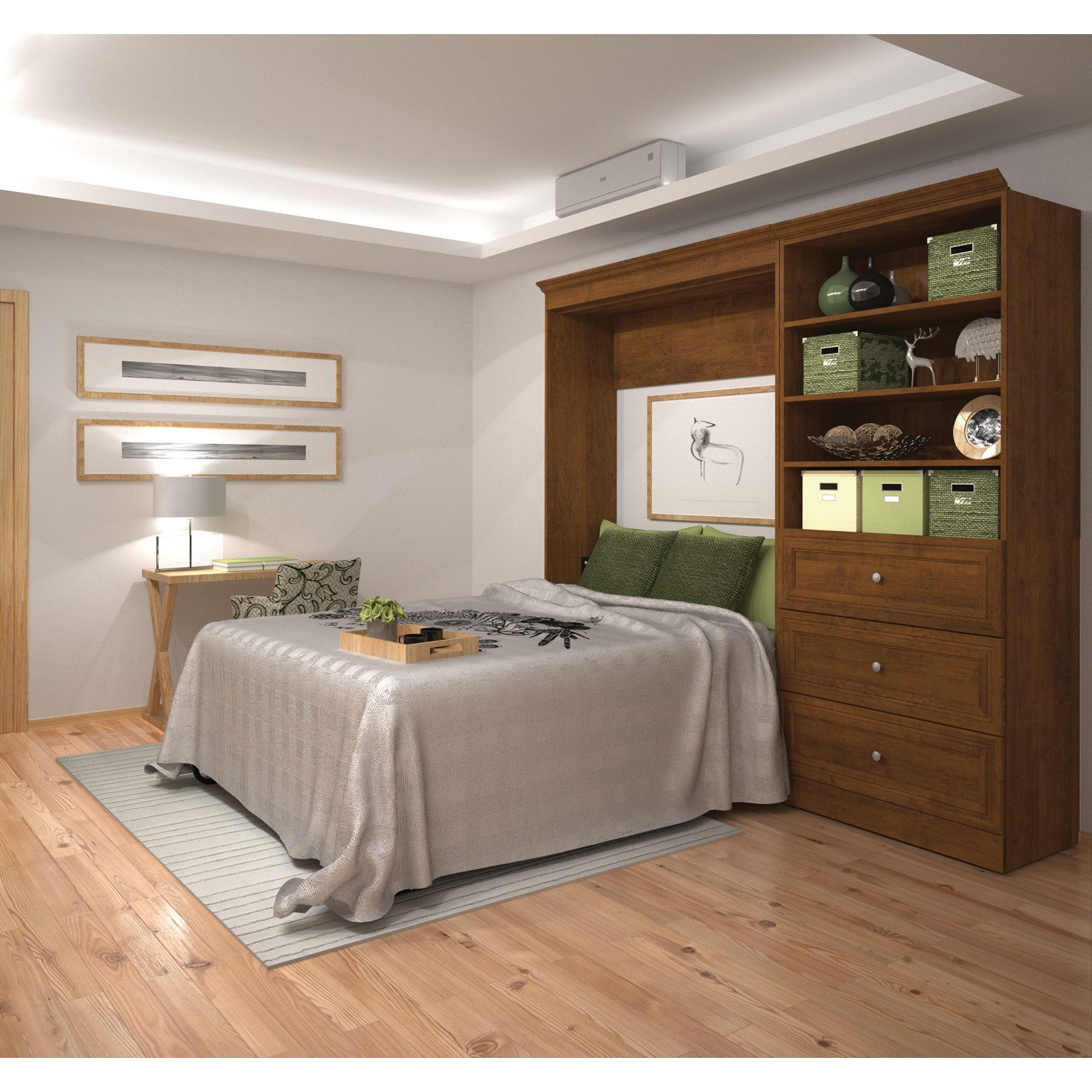 Versatile by Bestar 101'' Queen Wall bed kit in Tuscany Brown