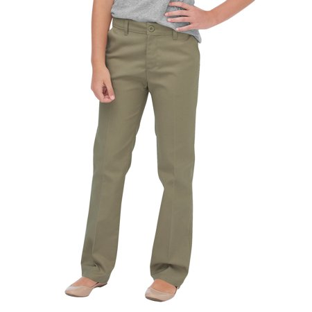 Slim Girls Flat Front Pants - Girls' Flex Slim Fit Straight Leg Flat Front Pants (Big Girls)