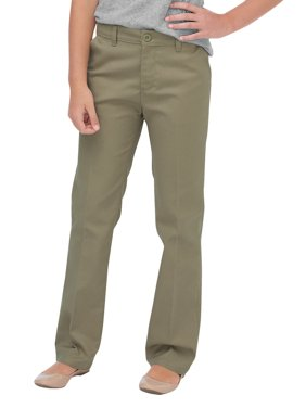 Dickies Girls School Uniform Flex Slim Fit Straight Leg Flat Front Pants (Big Girls)