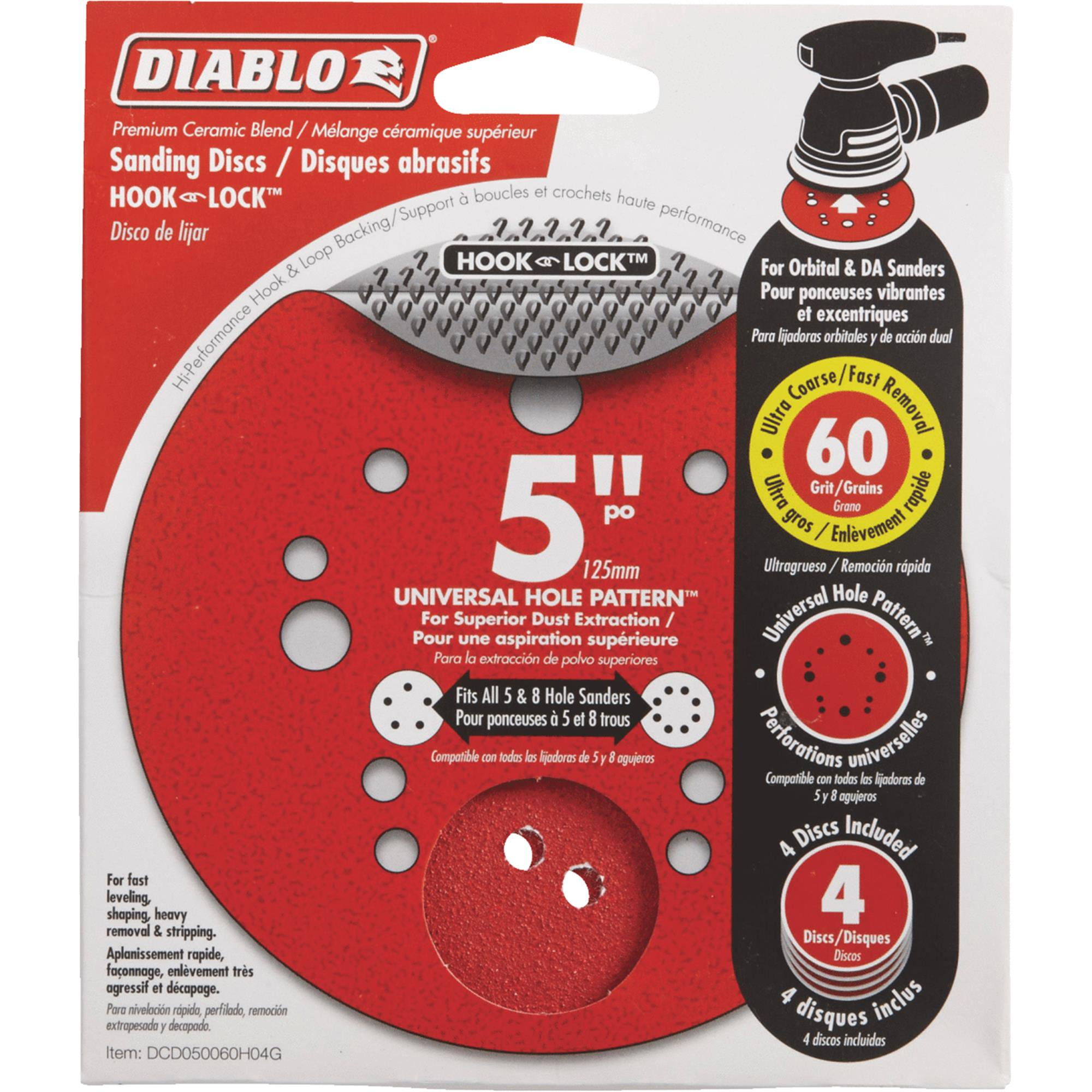 Diablo 5 In. Universal Hook & Lock Vented Sanding Disc