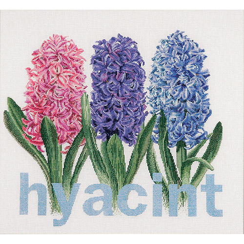 Thea Gouverneur Linen Counted Cross-Stitch Kit, Hyacinth