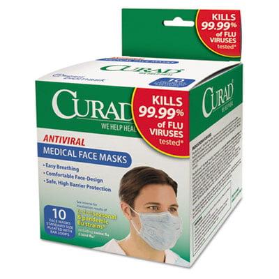 10 1 Mask Box Per Pleated Medical Antiviral Each Box box Face Walmart 10 com As Sold -
