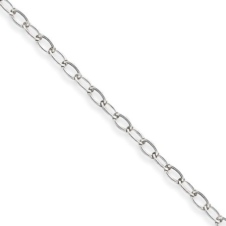 Handmade Silver Wire Chain - Sterling Silver 16in 3mm Half Round Wire Curb Necklace Chain