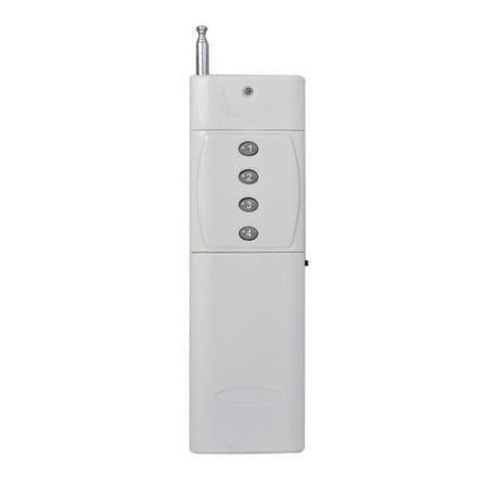 3000M Long Range 433mhz Crane Industrial Remote Control Wireless Transmitter Push Button Switch Industrial Remote Control 4 Buttons ()