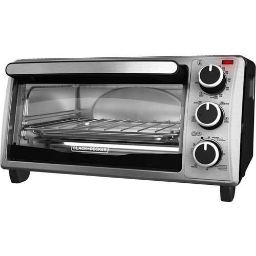 Black & Decker 4-Slice Toaster Oven, Stainless Steel