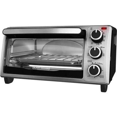 black decker 4 slice toaster oven stainless steel. Black Bedroom Furniture Sets. Home Design Ideas
