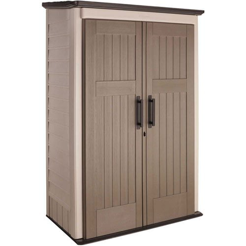 Rubbermaid 52 cu. Ft Vertical Shed, Beige by Generic