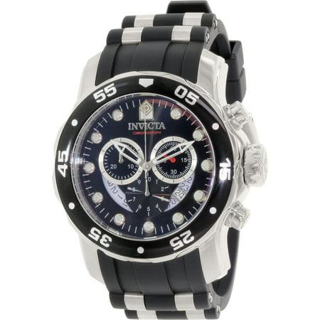 Invicta Men's NEW!! 6977 48mm Pro Diver Chronograph Quartz SS Black Strap Watch Chronograph Ss Case