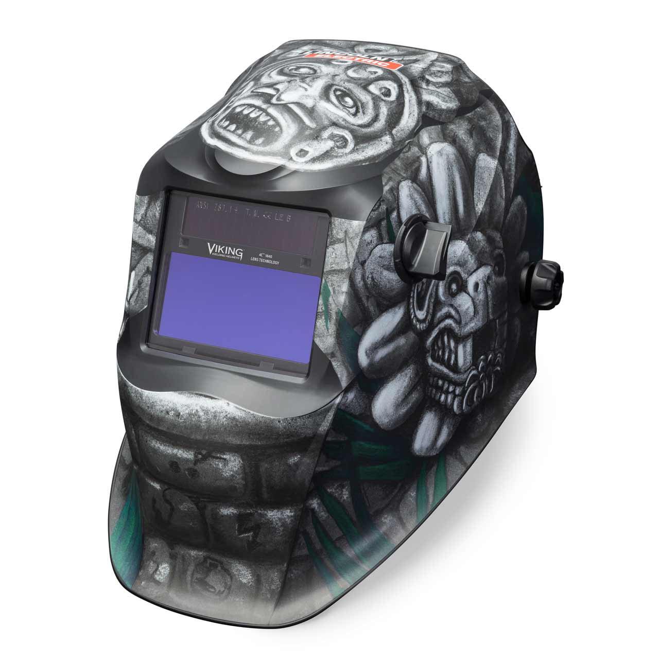 Welding Helmet,Aztec Graphic,Black LINCOLN ELECTRIC K4175-3
