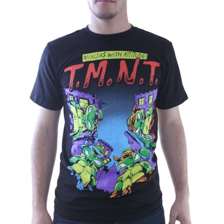 04e72a80962 Teenage Mutant Ninja Turtles - TMNT Ninjas With Attitude Men s Black T-shirt  NEW Sizes S-XL - Walmart.com
