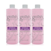 Gelish Artificial Refill Soak Off Gel Nail Polish Remover 16 Fluid Oz. (3 Pack)