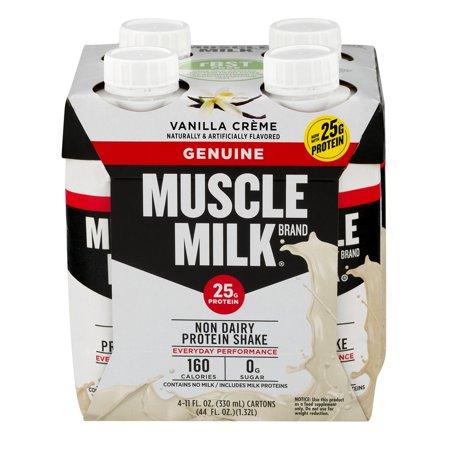 Muscle Milk Geniune Shake, 25 Grams of Protein, Vanilla Cr me, 11 Oz, 4 Ct