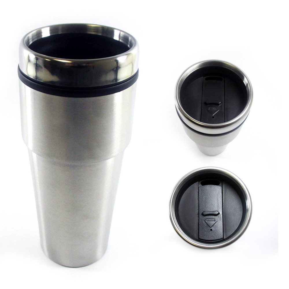 16oz Cup Insulated Coffee Travel Mug Stainless Steel Double Wall Thermos Tumbler