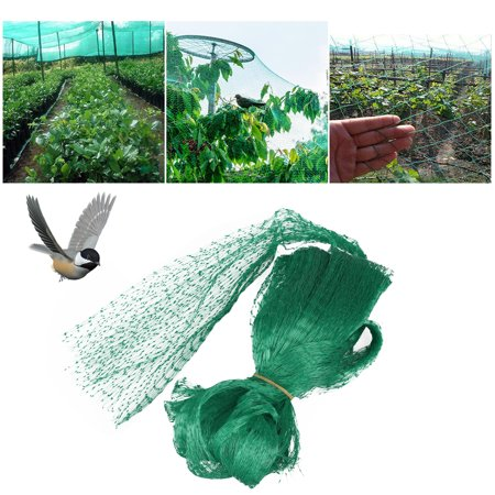 Anti-Bird Netting 6.6 x 20Ft Protection Net Mesh Garden Farm Plant Netting Protect Plants and Fruit Trees Fencing Mesh Fruits Protector Durable Fish Ponds Cover Green ()