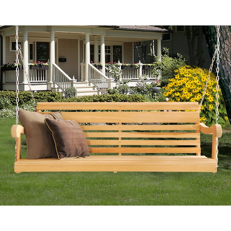 Hershy Way Cypress 5 ft. Classic Grandpa Porch Swing by Porch Swings