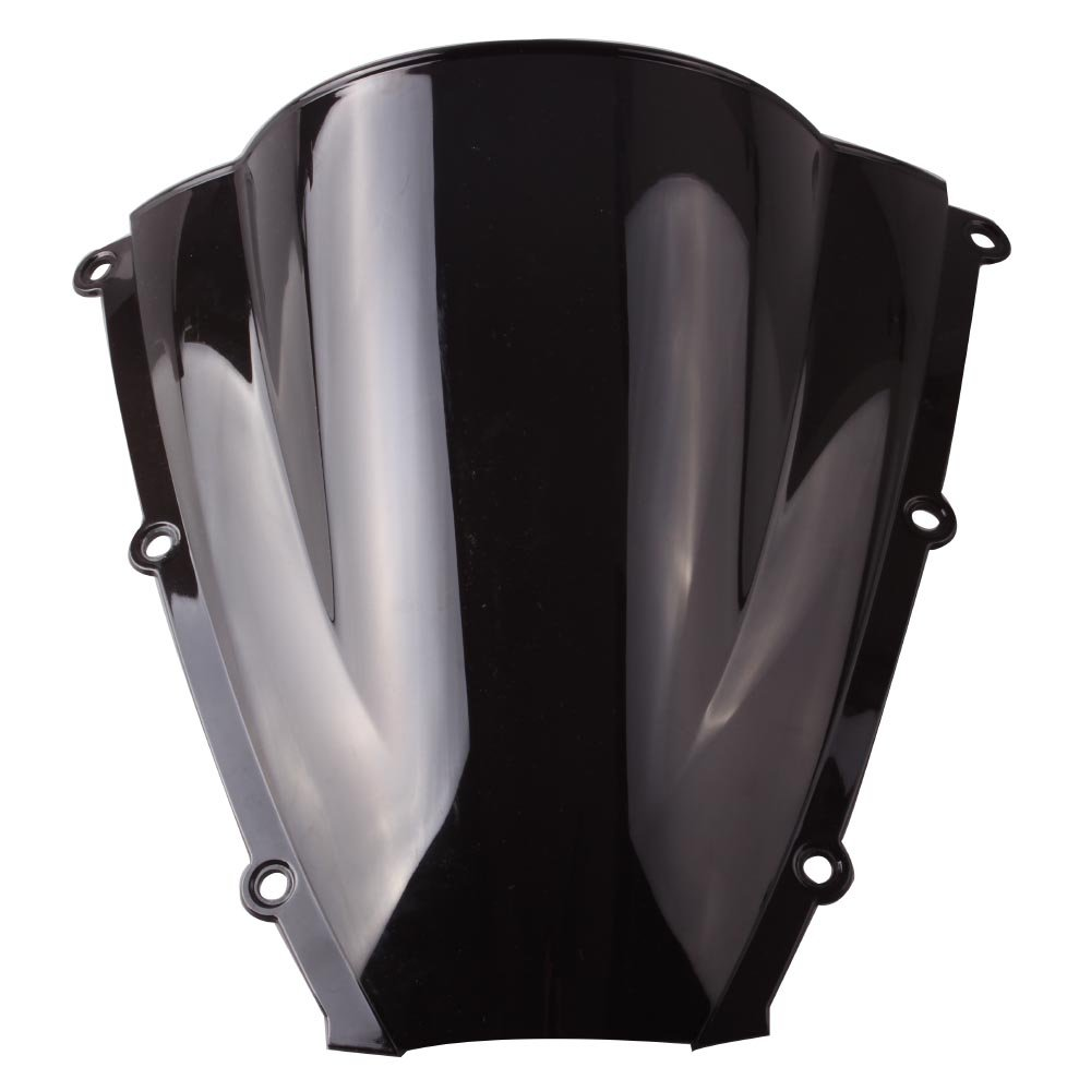 GZYF Motorcycle Windshield Windscreen Double Bubble for  HONDA CBR 600RR CBR600RR 2003 2004 Black ABS Plastic