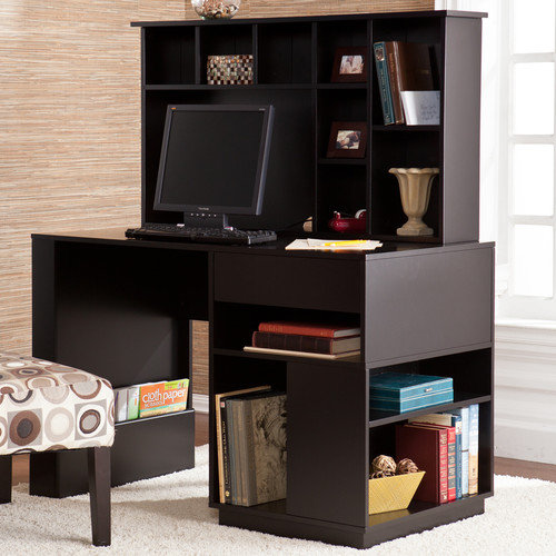 Wildon Home  Colbert Writing Desk with Hutch