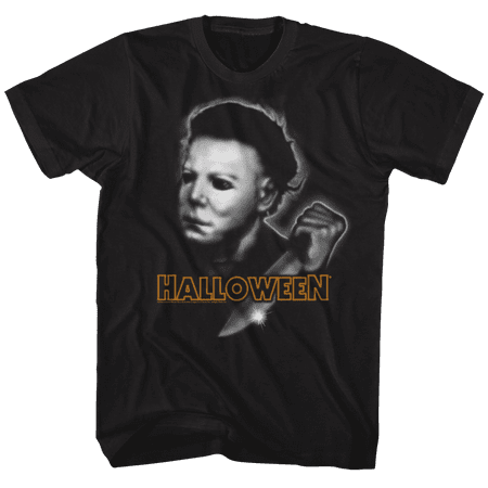 Halloween Airbrush Black Adult T-Shirt Tee