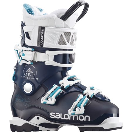 Salomon Touring Skis - Salomon Women's QST Access 80  Wide Ski Boot 2018 Petrol Blue/Petrol Blue/Aqua Blue 26
