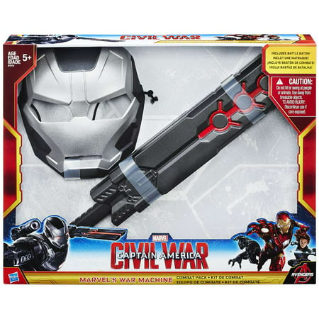 Captain America Civil War War Machine Combat Pack [Mask & Battle - Costume Stores Baton Rouge
