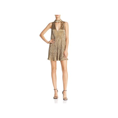 Show Me Your Mumu Womens Friday Metallic Choker Clubwear Dress - Ali Clubwear