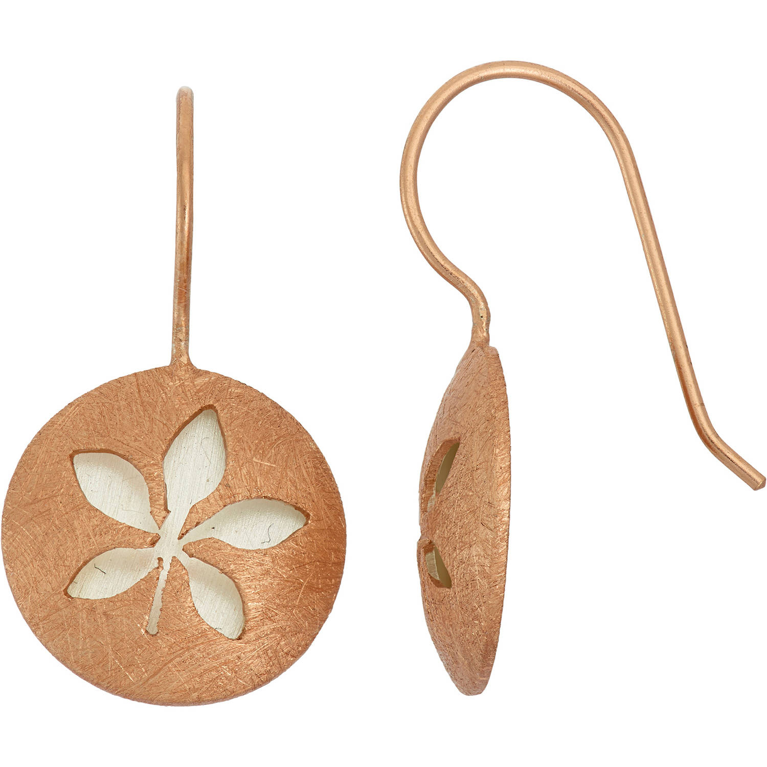 Image of 5th & Main 14kt Rose Gold-Plated and Sterling Silver Leaf Earrings