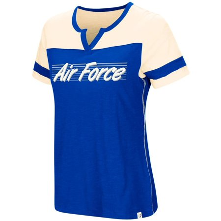 Air Force Academy Falcons Ladies T-Shirt Coach Short Sleeve Tee ()