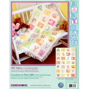 "Dimensions Baby Hugs ""ABC Afghan"" Counted Cross Stitch Kit, 29"" x 45"""
