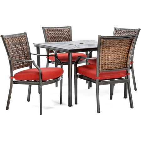 Hanover Mercer Outdoor Patio Dining Set, 5 Piece, Multiple Colors ()