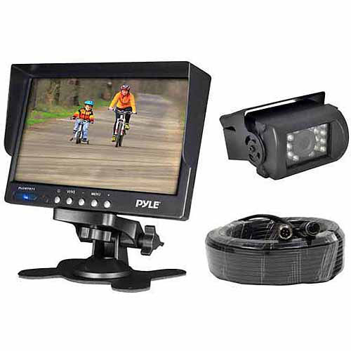 "Pyle PLCMTR71 Weatherproof Rearview Backup Camera System Kit with 7"" LCD Color Monitor and IR Night Vision Camera"