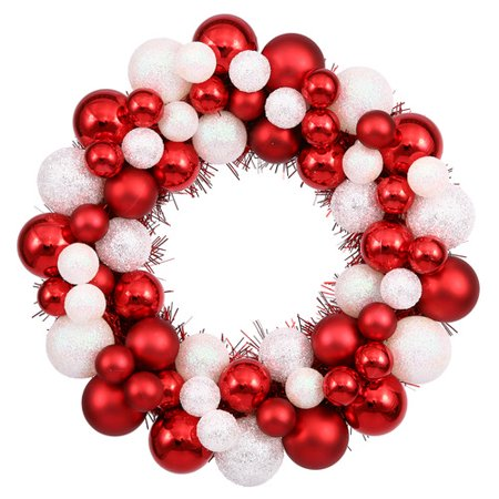 The Holiday Aisle Colored Ball Wreath with - Halloween Tinsel Wreaths