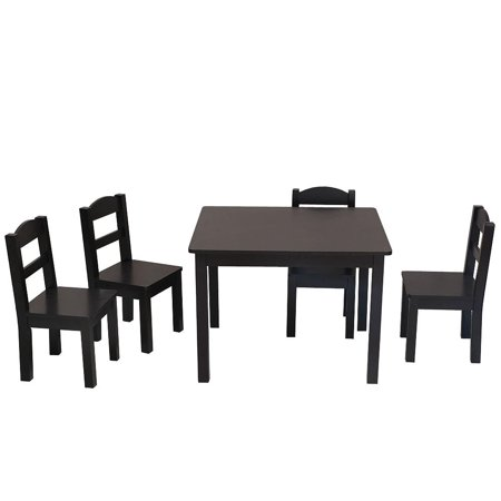 Ktaxon Kids Table and Chairs Set - 4 Chairs and 1 Activity Table for Children Toddlers Furniture