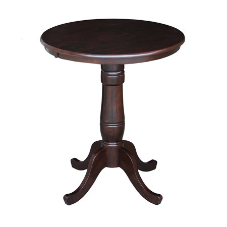 International Concepts Oakdale 30 in. Round Top Pedestal Counter Height Dining Table