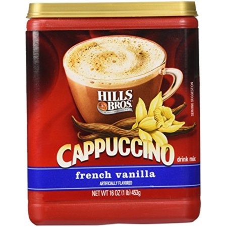 Hills Bros. Instant Cappuccino Mix, French Vanilla Cappuccino Mix Easy to Use, Enjoy Coffeehouse Flavor from Home Decaden