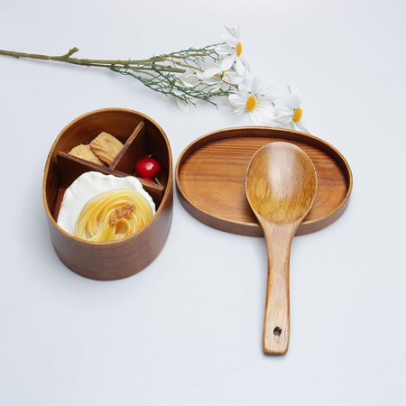 Wooden Serving Spoon - Wooden Rice Spoon Non-stick Heat-resistant Rice Spatula Paddle for Dividing Tasting Serving