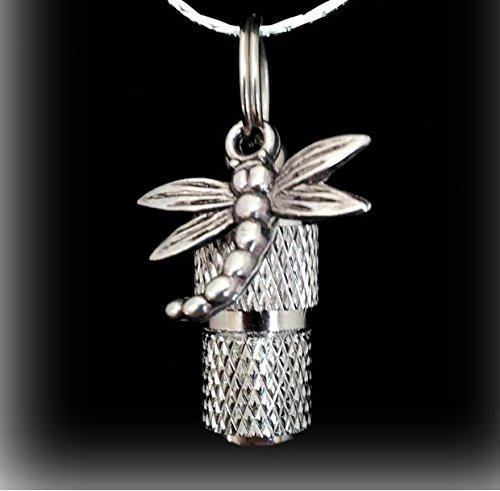 Classic MINI Faceted Silver DRAGONFLY CREMATION URN Keepsake - Includes Velvet Pouch & Fill Kit