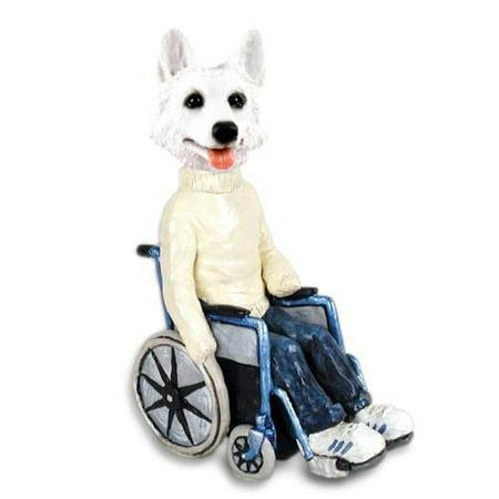 NO.DOOG08C216 German Shepherd White Wheelchair Doogie Collectable Figurine