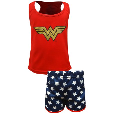 Wonder Woman Girls Shortie Pajama