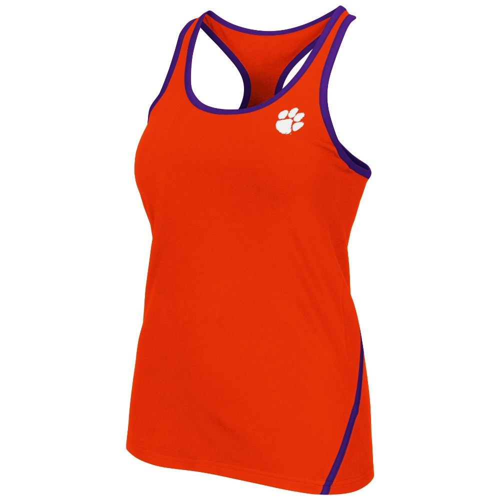 """Clemson Tigers Women's NCAA """"Rapid"""" Performance Racer Back Tank Top by Colosseum"""