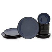 MoDRN Neo Luxury Reactive Glaze 12 Piece Dinnerware Set