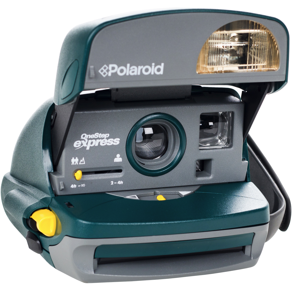 polaroid 600 round instant film camera (green