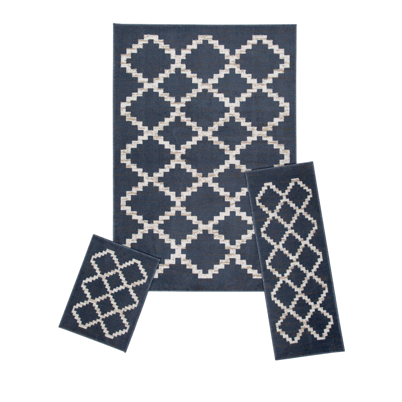 Achim Capri 3 Piece Rug Set Great For, Rug Sets For Living Rooms